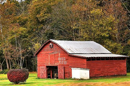 Red Barn Feed And Seed by Carol Montoya