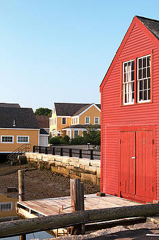 Red Boathouse in Portsmouth by Eric Gendron