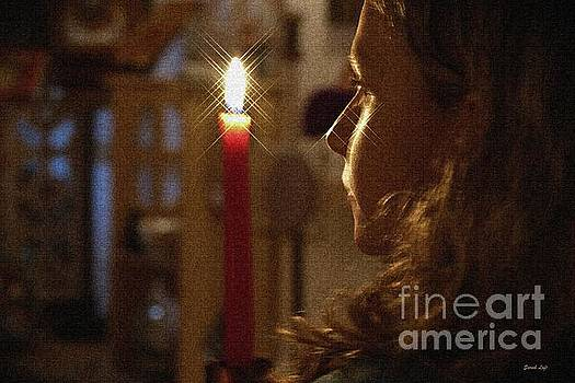 Red Candle by Sarah Loft