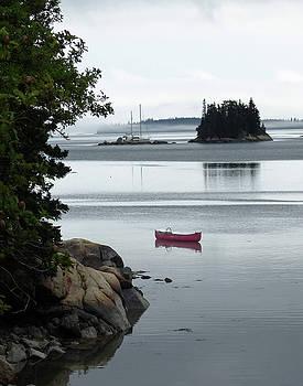 Red Canoe by Carl Sheffer