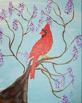 Red Cardinal by Yvonne Sewell