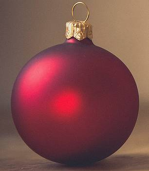Red Christmas Ball by Cathy Lindsey