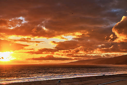 Red Clouds At Sunset by Gene Parks