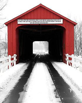 Red Covered Bridge by Jayson Tuntland