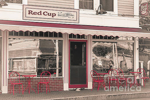 Red cup coffee house by Claudia M Photography