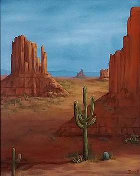 Red desert cactus  by Danett Britt