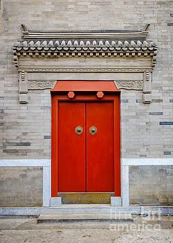Red door - Beijing Hutong by Iryna Liveoak