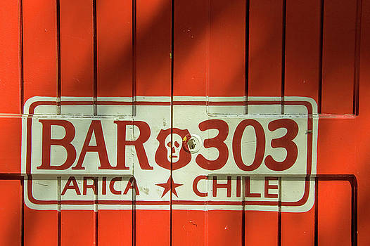 Red Door in Arica Chile by David Smith