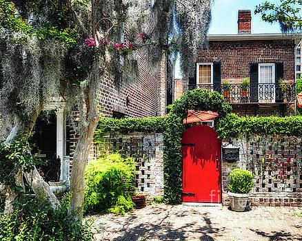 Red Door of Savannah by George Oze