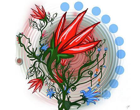 Red Dwarf Plant by Artist Nandika Dutt