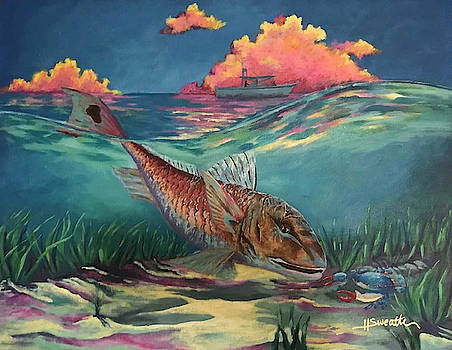 Red Fish Hunt by Heather Sweatte