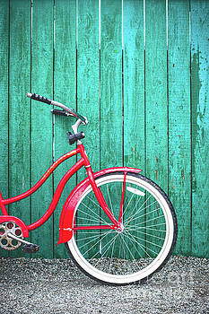 Red Flyer Bicycle by Illumina Photographics