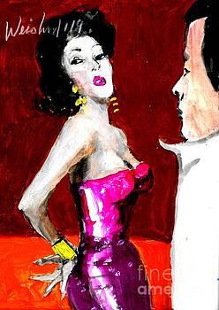 Red Glittering Dress by Harry WEISBURD