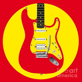 Red Guitar Icon by Bigalbaloo Stock