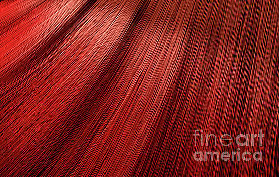 Red Hair Blowing Closeup by Allan Swart