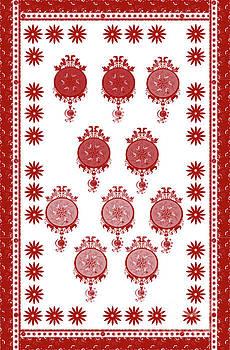 Red in white by Artist Nandika Dutt