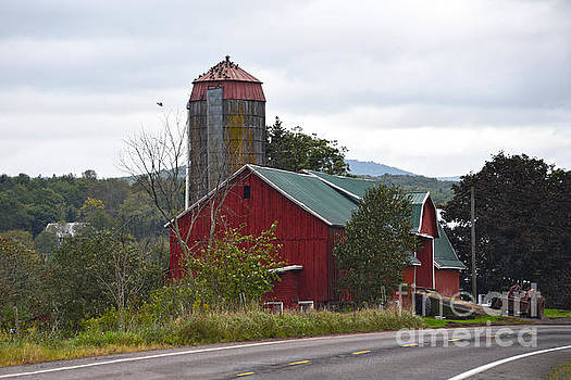 Red Pennsylvania Barn and Silo by Catherine Sherman