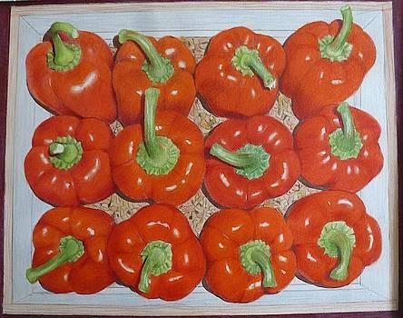 Red Peppers by Constance DRESCHER