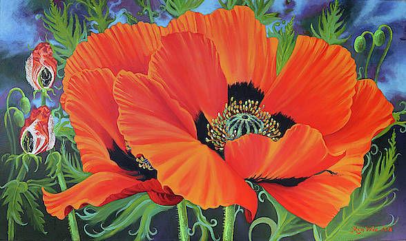 Red Poppy by Marie Wise