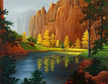 Red Rock Autumn  by Danett Britt