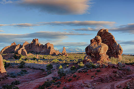 Red Rock Formations Arches National Park  by Nathan Bush