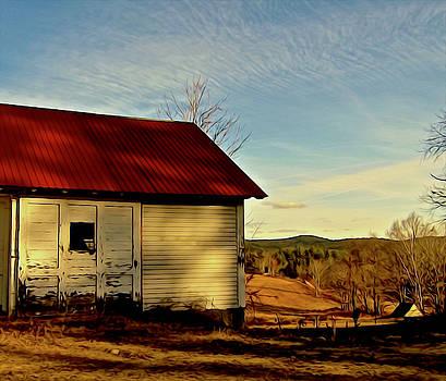 Red Roof Barn by Elizabeth Tillar