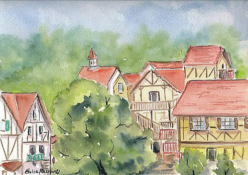 Red Roofs by Elvira Rascov