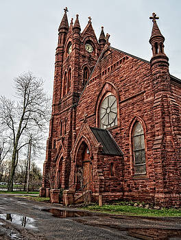 Red Sandstone Church by Maggy Marsh
