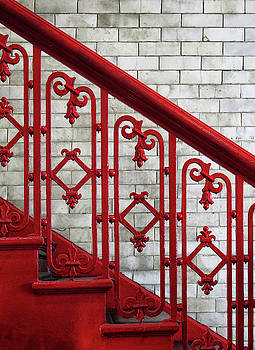 Red Staircase by Dave Mills