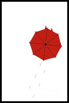 Benjamin Harte - Red Umbrella in the Snow