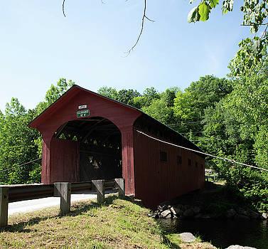 Red Vermont Bridge by Diane Schuler