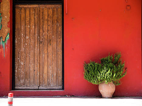 Red Wall in Paleochora by Rae Tucker