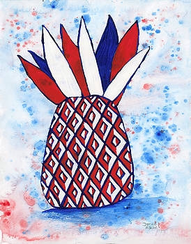 Darice Machel McGuire - Red White and Blue Pineapple