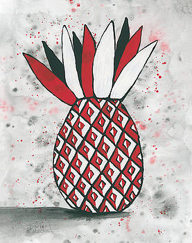 Darice Machel McGuire - Red White Black Pineapple