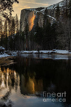Refelction on Fire Fall by Jamie Pham