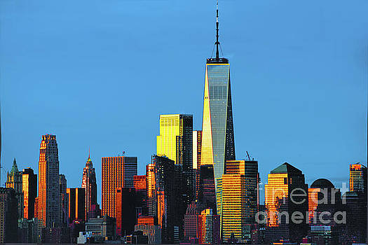 Regina Geoghan - Reflecting Sunrise Lower Manhattan