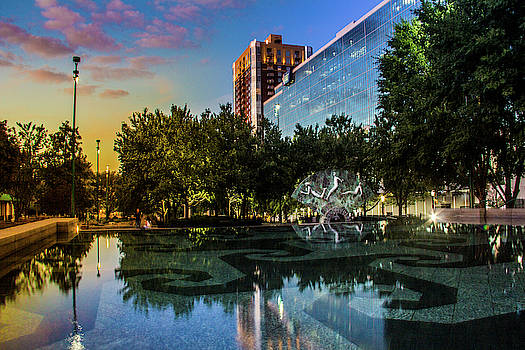 Reflection at Olympic Centennial Park by Kenny Thomas
