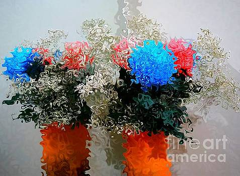 Reflection of Flowers in the Mirror in Van Gogh Style by Christopher Shellhammer