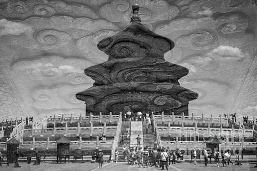Reflection of Temple of Heaven  by Iryna Liveoak