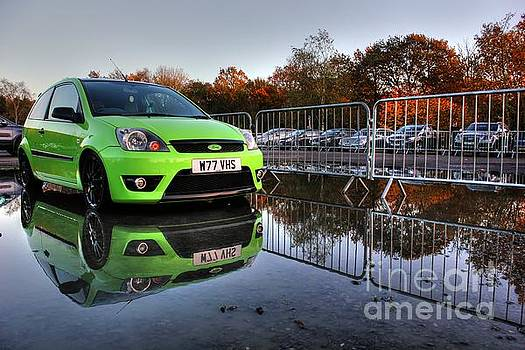 Reflection of the Green Machine by Vicki Spindler