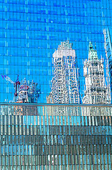 Reflections of lower Manhattan by Xavier Cardell