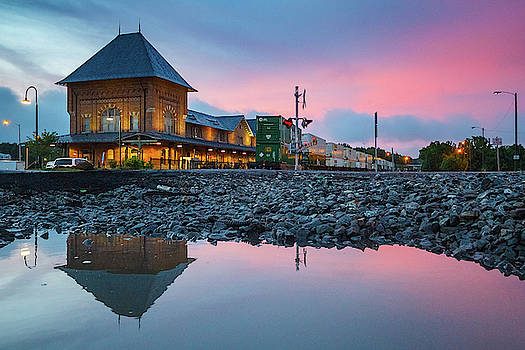 Reflections of the Bristol Train Station at Sunset by Greg Booher