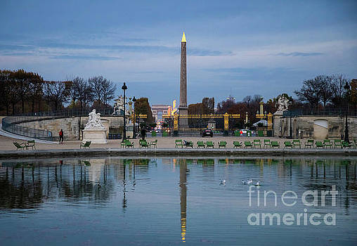 Reflections Scenes along the Champs Elysees Paris France by Wayne Moran