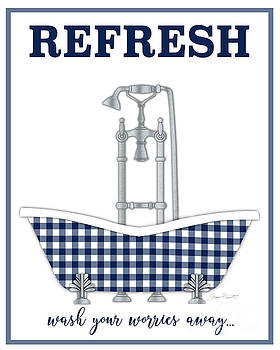 Refresh In Navy by Jean Plout