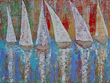 Regatta original painting by Sol Luckman