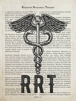 Registered Respiratory Therapist Gift Idea With Caduceus Illustr by Aged Pixel