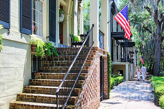 Relaxing Stroll in Old Savannah by George Oze