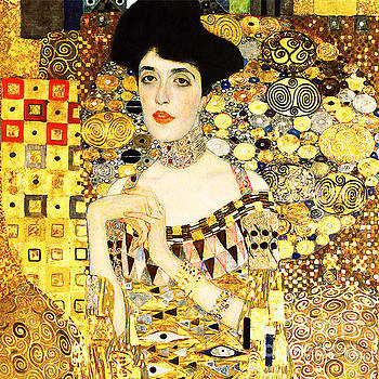 Remastered Art Adele Bloch Bauer I by Gustav Klimt 20190214 sq2a by Wingsdomain Art and Photography