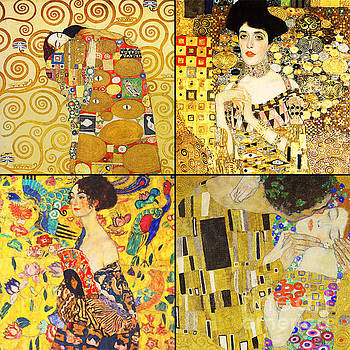 Remastered Art by Gustav Klimt Four Squares 20190303 v2 by Wingsdomain Art and Photography