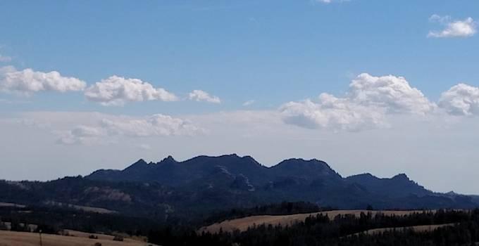 Rendezvous Mountains-Teton Range in Wyoming by Peggy Leyva Conley